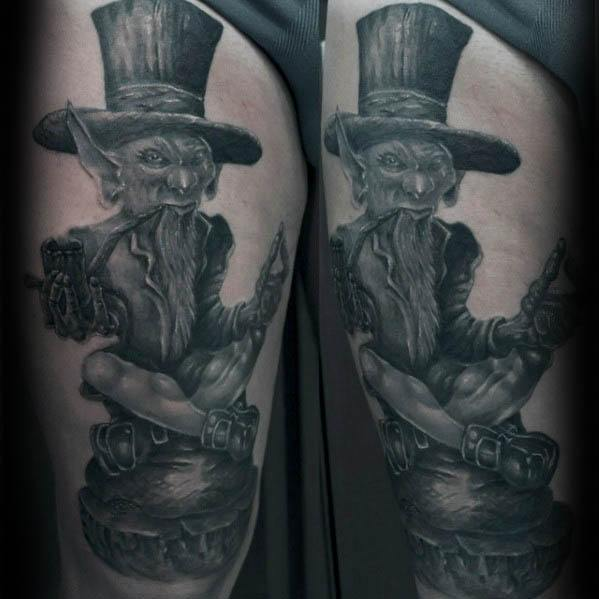 Mens Leprechaun Tattoo Design Ideas