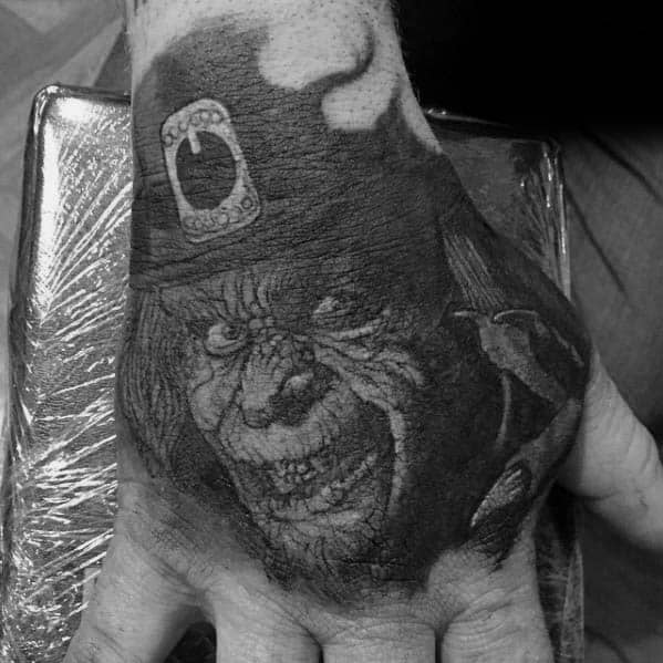 Mens Leprechaun Tattoo Design Inspiration On Hand
