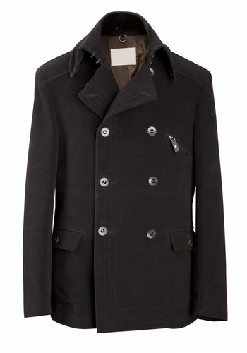 Men's Levi's Melton Pea Coat With Zip Out Bib And Hood