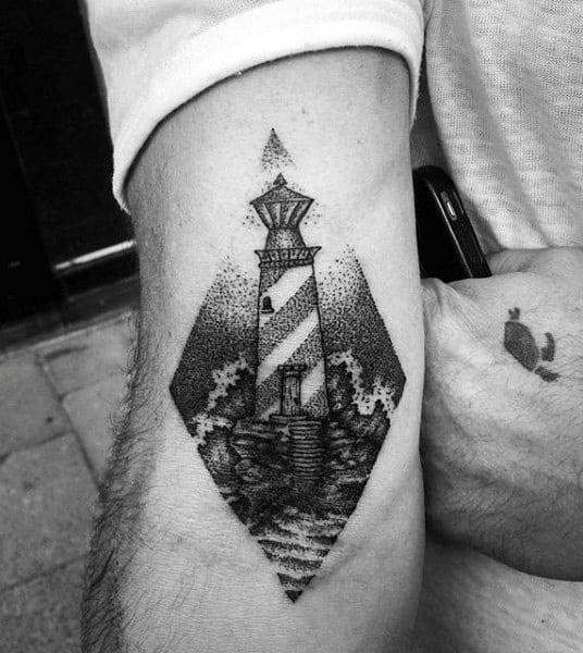 Mens Lighthouse Tattoo