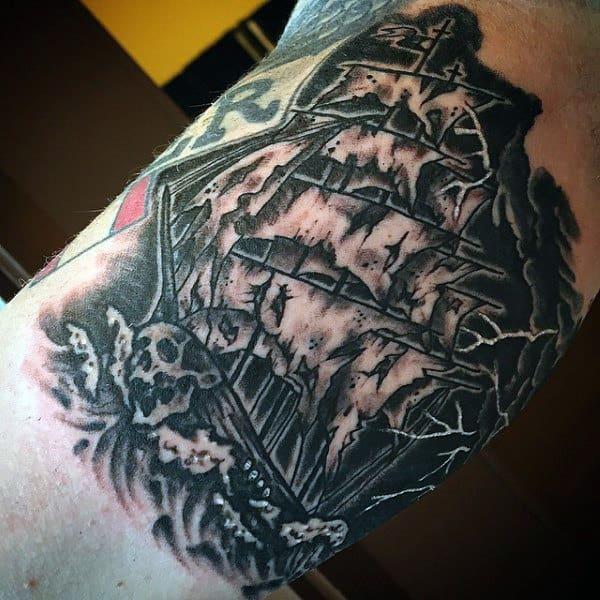 Mens Lightning Storm Tattoo