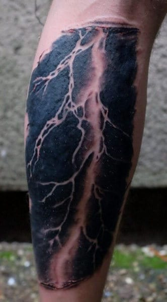 Mens Lightning Tattoo