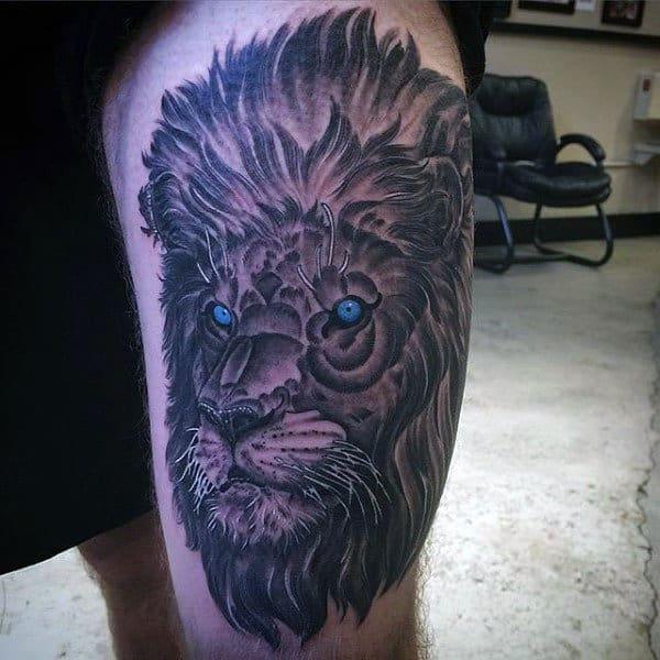 7d556e2cf 85 Lion Tattoos For Men - A Jungle Of Big Cat Designs