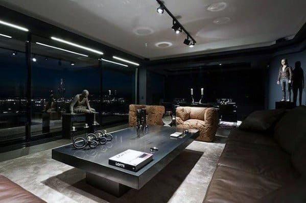 Mens Living Room Bachelor Pad Furniture Designs
