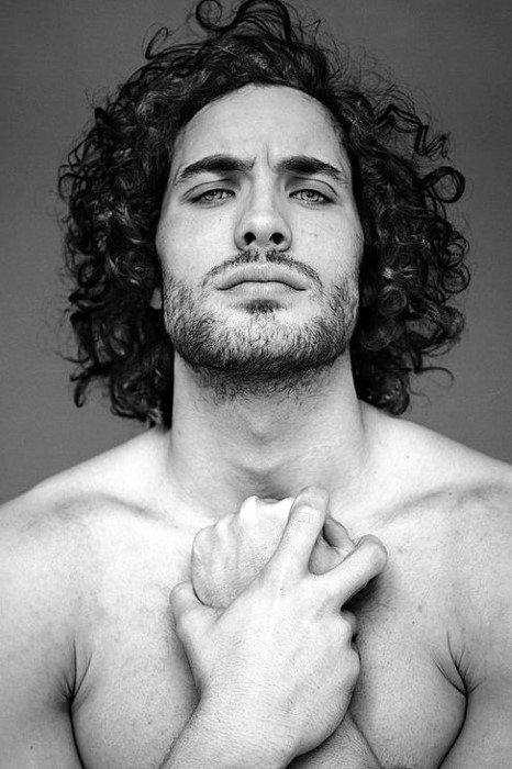 Mens Long Curly Hair