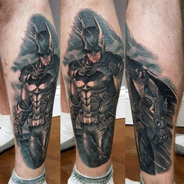 Tattoo Designs Legs: 100 Batman Tattoos For Men