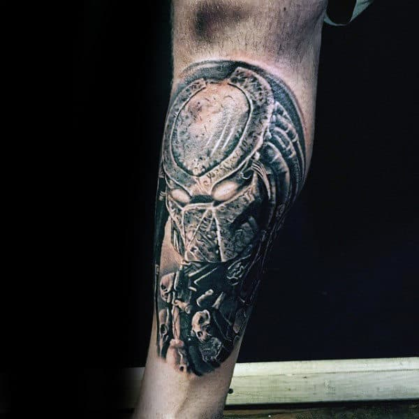Mens Lower Leg Predator Tattoo Ideas