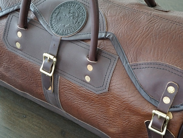 Mens Luxury Leather Duffel Duluth Pack Sportsman Bison