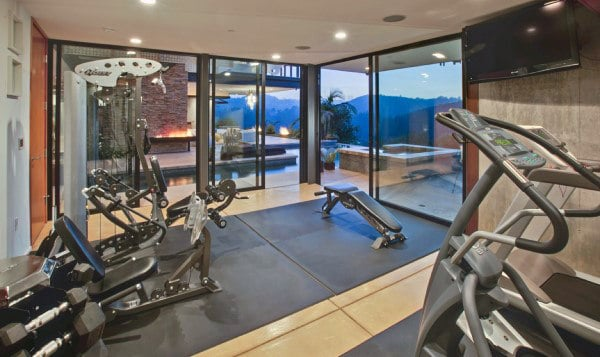 Mens Luxury Personal Gym Designs In Home