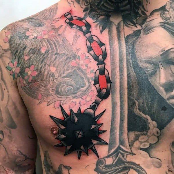 Mens Mace Tattoo Designs