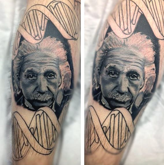 Mens Mad Science Tattoo
