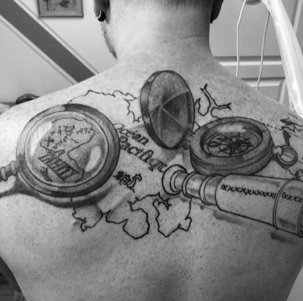 Mens Magnifying Glass Tattoo Ideas