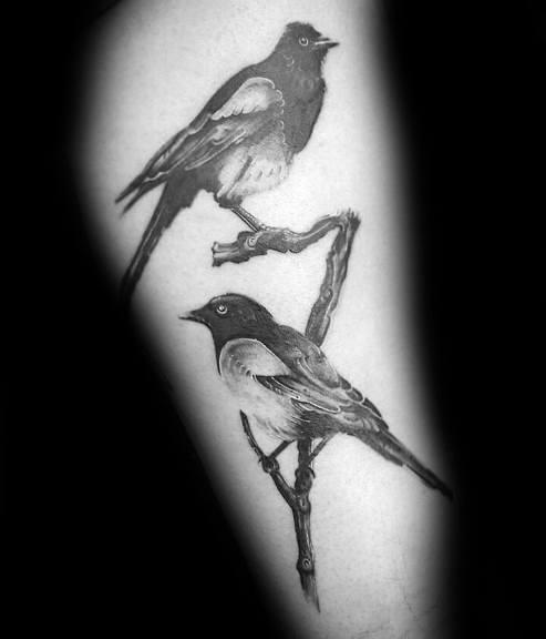 Mens Magpie Tattoo
