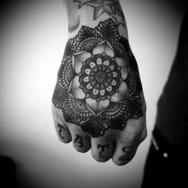 Mens Mandala Tattoo Design Inspiration On Hand