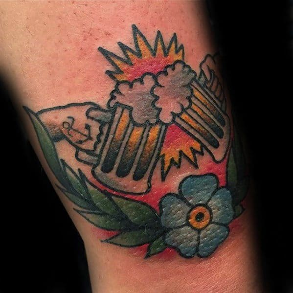 Mens Manly Beer Tattoo Designs