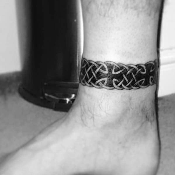 Tattoo Designs Male: 60 Ankle Band Tattoos For Men