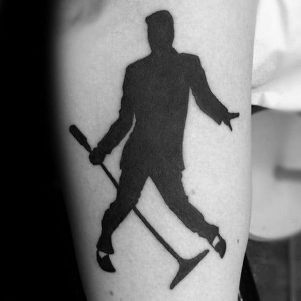 Mens Manly Elvis Presley Tattoo Designs