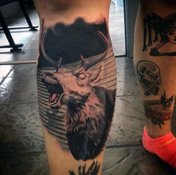 Mens Manly Evil Dead Tattoo Designs