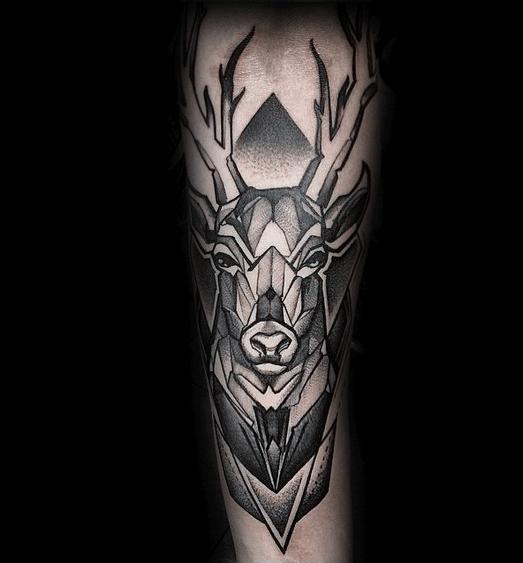 Mens Manly Geometric Animal Tattoo Designs