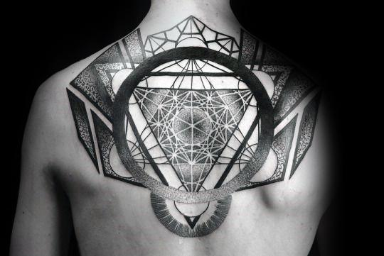 Mens Manly Metatrons Cube Tattoo Designs