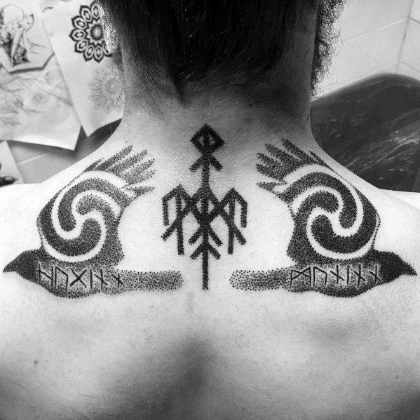 Minimalist Raven Tattoo: Top 57 Odin's Ravens Tattoo Ideas [2020 Inspiration Guide]