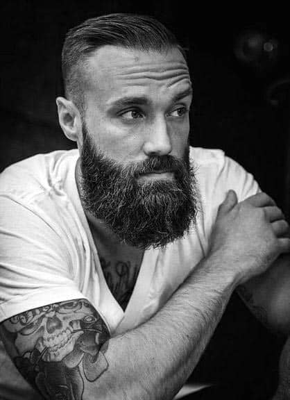 Mens Manly Short Hair With Beard Styles