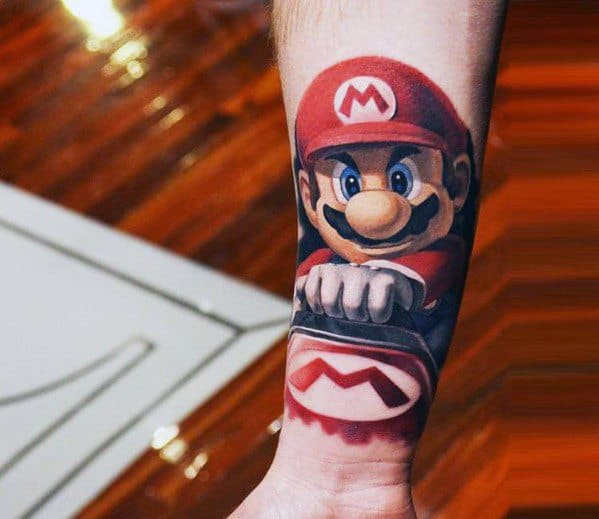 Mens Mario 3d Gaming Tattoos
