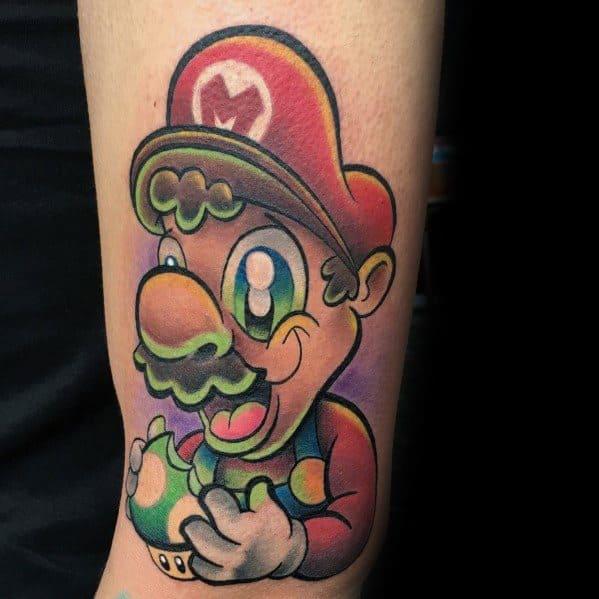Mens Mario Tattoo Designs
