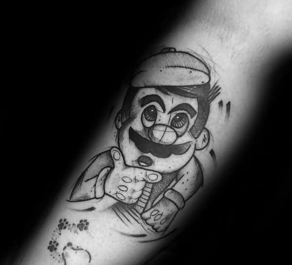 Mens Mario Tattoos