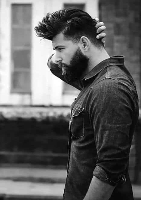Mens Medium Hair With Beard