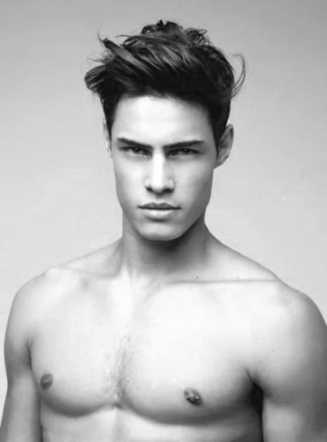 Mens Medium Length Hair Cool Quiff Cut