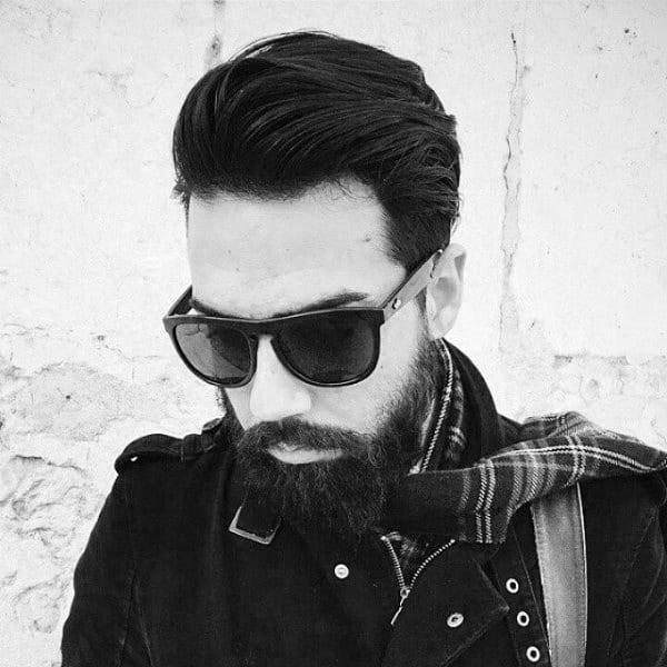 Mens Medium Length Hair Styles For Beards