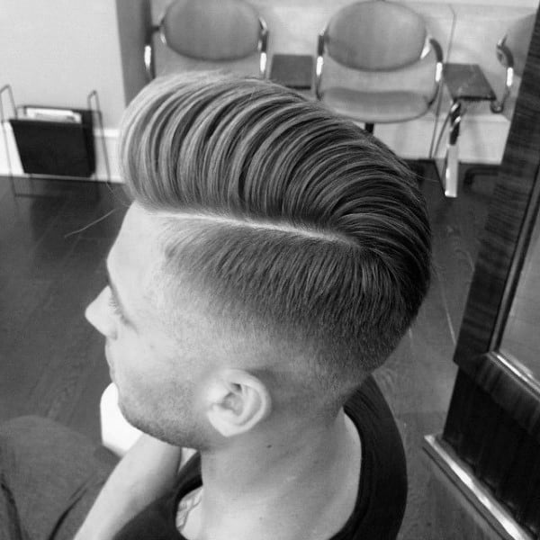 Mens Medium Length Hard Part Hairstyles
