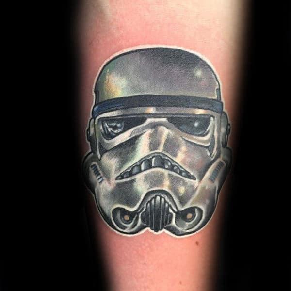 100 stormtrooper tattoo designs for men star wars ink ideas for Permanent metallic ink tattoos