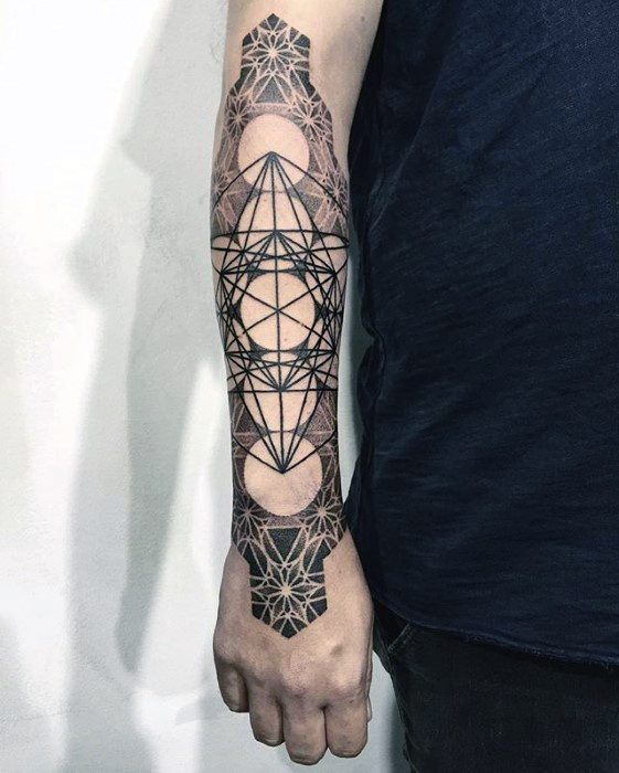 Mens Metatrons Cube Tattoo Design Ideas