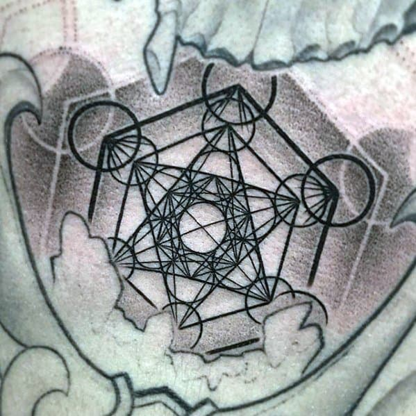 Mens Metatrons Cube Tattoo Design Inspiration