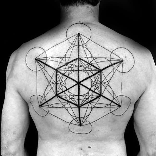 Mens Metatrons Cube Tattoo Ideas