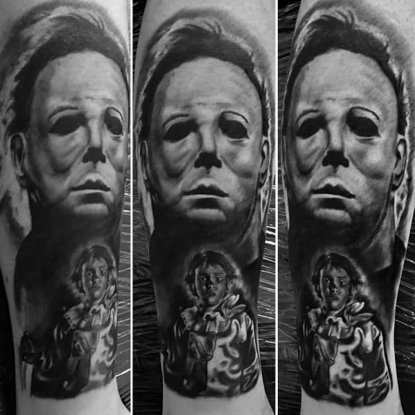 Mens Michael Myers Tattoo Designs