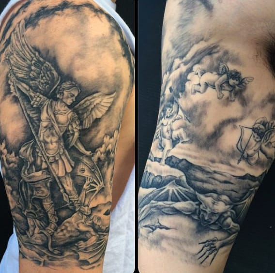 Men's Micheal The Archangel Tattoo