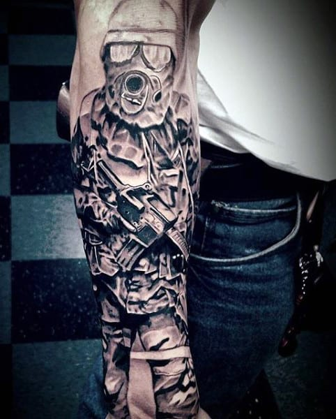 Men's Military Tattoos Meanings