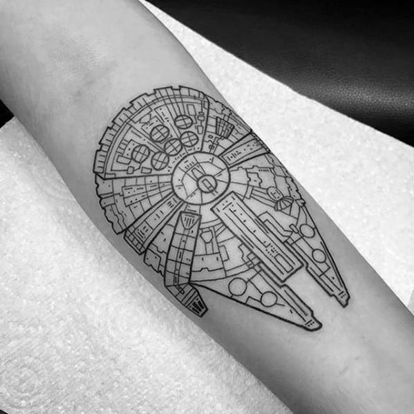 Mens Millennium Falcon Tattoo Ideas