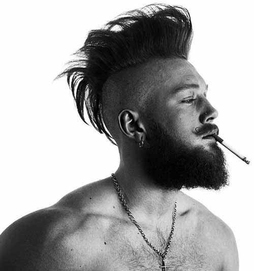 Mens Mohawk Messy Hairstyles
