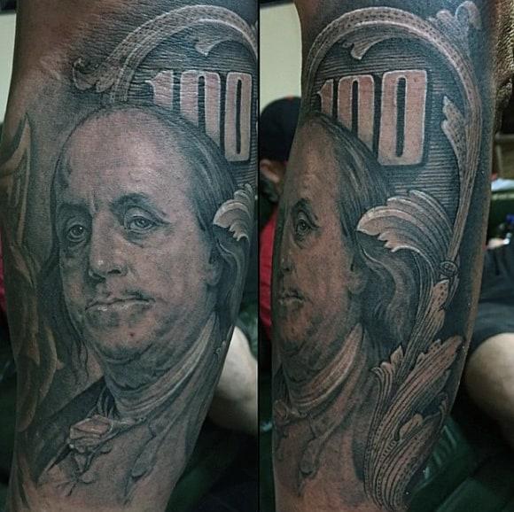 Men's Money Tree Tattoo