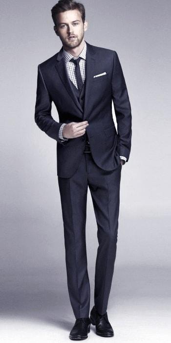 Mens Navy Blue Suit Black Shoes Style Ideas