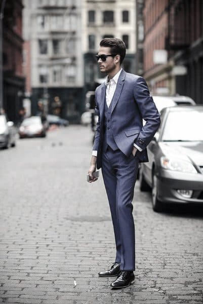 Mens Navy Blue Suit Outfit Style Ideas