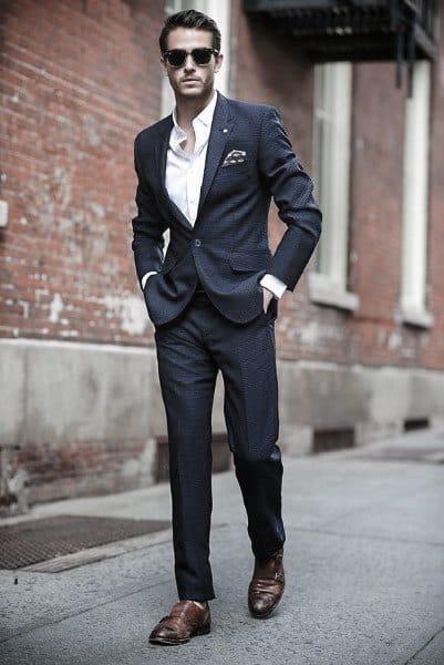 Mens Navy Blue Suit Style Looks