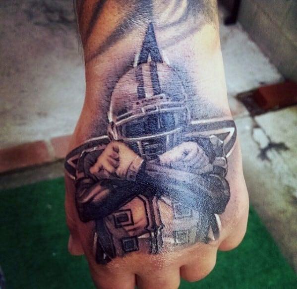 Mens Nfl Player Dallas Cowboys Hand Tattoo Design