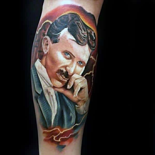 Mens Nikola Tesla Tattoo Ideas