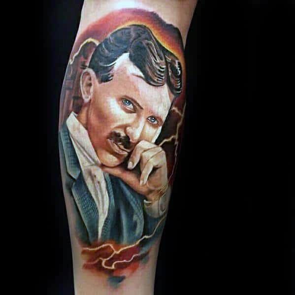 Mens Nikola Tesla Tattoo Ideas