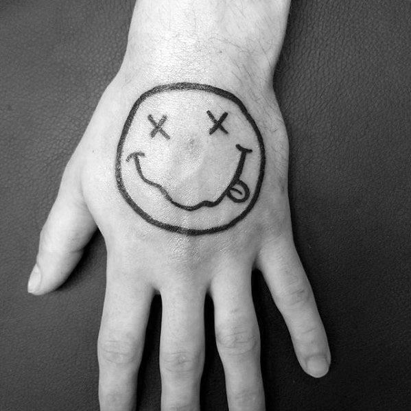 Mens Nirvana Tattoo Design Inspiration On Hand